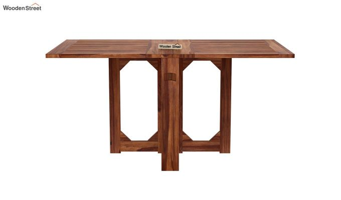 Paul Foldable Dining Table (Teak Finish)-2