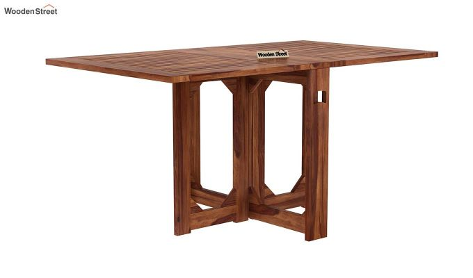 Paul Foldable Dining Table (Teak Finish)-3