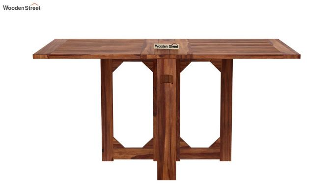 Paul Foldable Dining Table (Teak Finish)-4