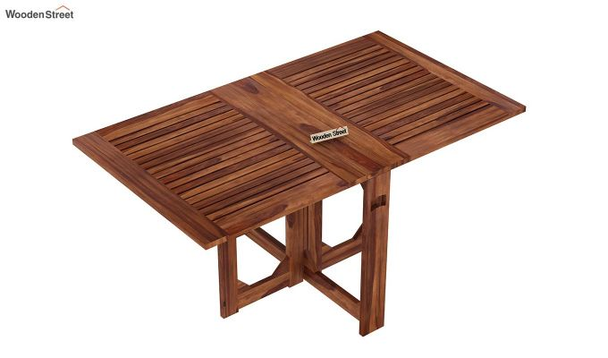 Paul Foldable Dining Table (Teak Finish)-5
