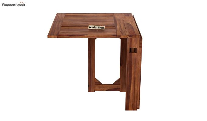 Paul Foldable Dining Table (Teak Finish)-6