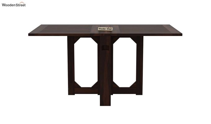 Paul Foldable Dining Table (Walnut Finish)-2