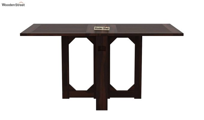 Paul Foldable Dining Table (Walnut Finish)-4