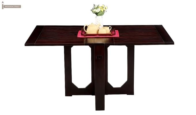 Paul Foldable Dining Table (Mahogany Finish)-1