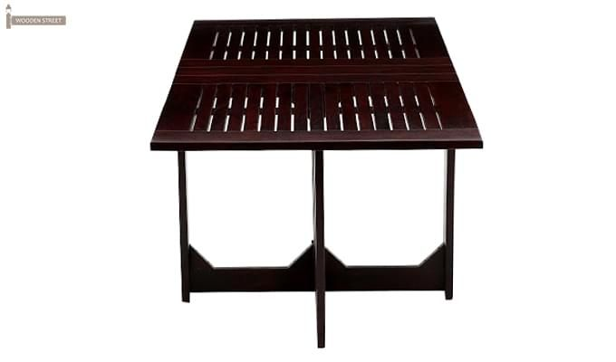 Paul Foldable Dining Table (Mahogany Finish)-3