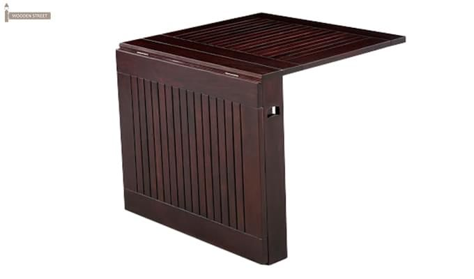 Paul Foldable Dining Table (Mahogany Finish)-8