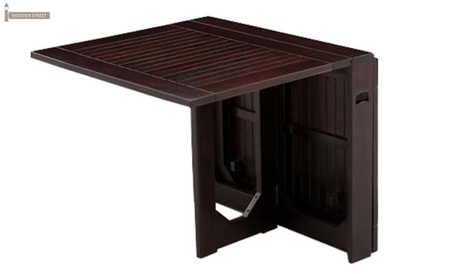 Paul Foldable Dining Table (Mahogany Finish)-9