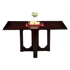 Paul Foldable Dining Table (Mahogany Finish)