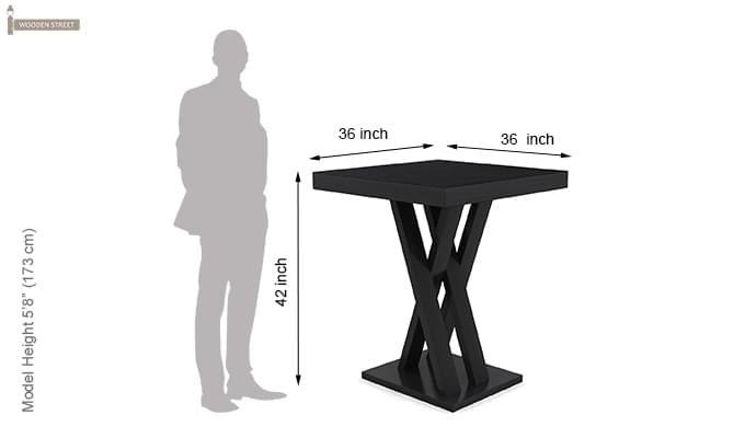 Paulson Dining Table (Black Finish)-5