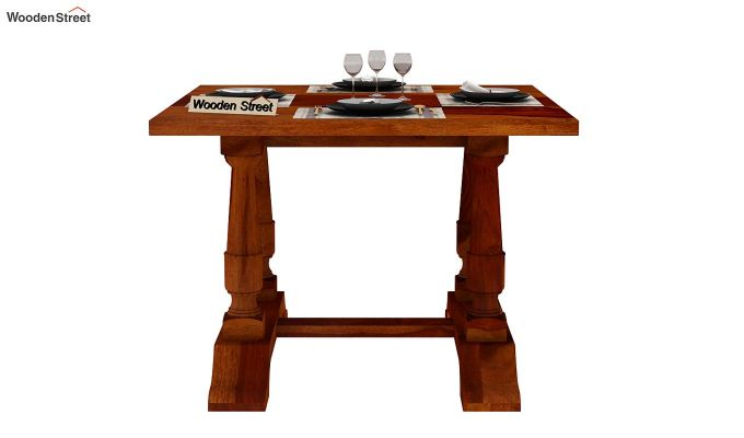 Redigo 2 Seater Dining Table (Honey Finish)-3