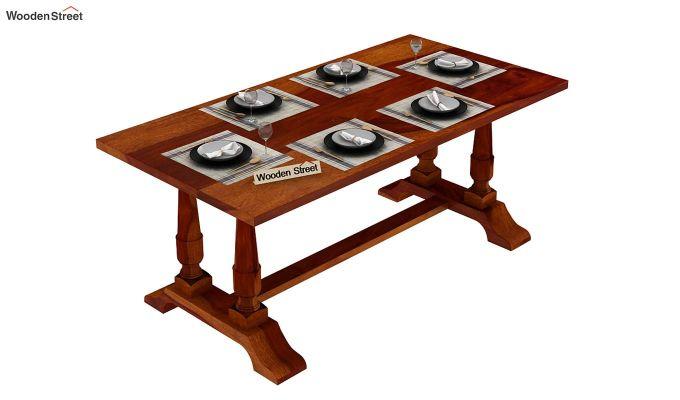Redigo Dining Table (Honey Finish)-6