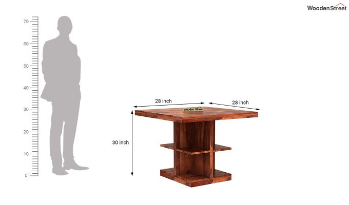 Regal 2 Seater Dining Table (Honey Finish)-4
