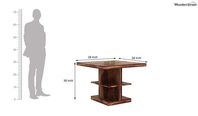 Regal 2 Seater Dining Table (Teak Finish)-4