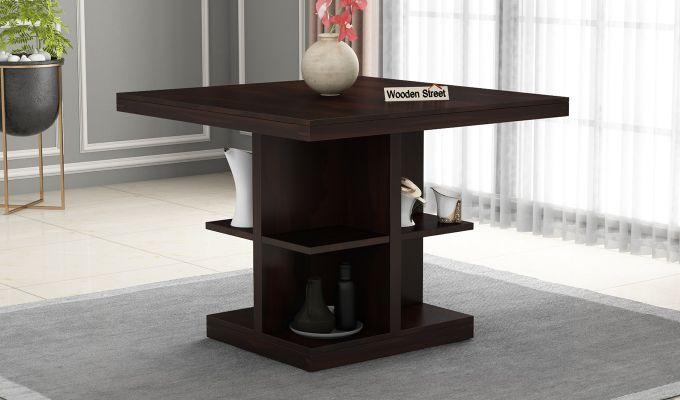 Regal 2 Seater Dining Table (Walnut Finish)-1