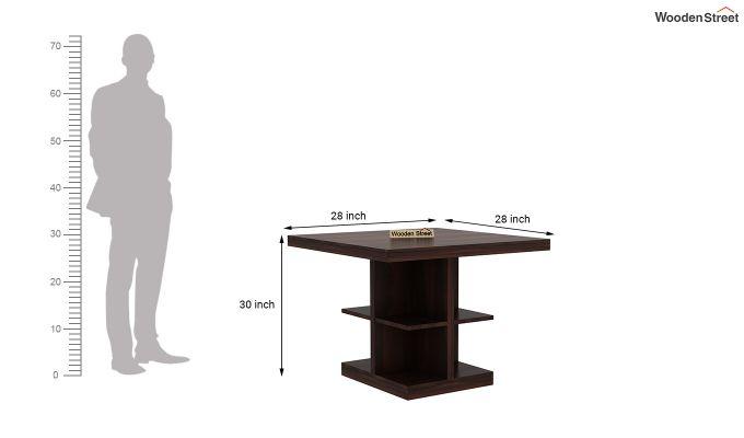 Regal 2 Seater Dining Table (Walnut Finish)-4