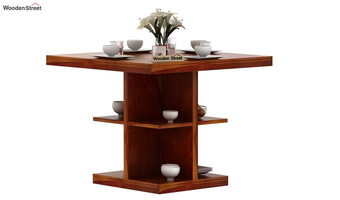 Regal 4 Seater Dining Table (Honey Finish)-2