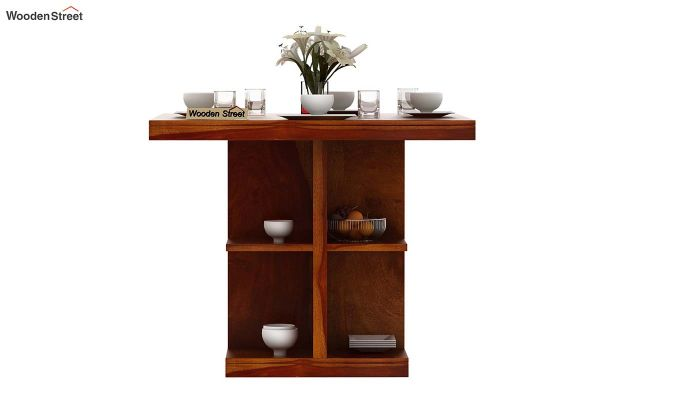 Regal 4 Seater Dining Table (Honey Finish)-3