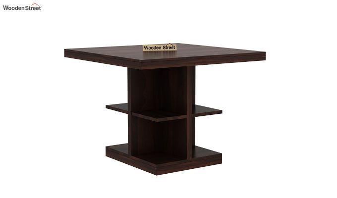 Regal 4 Seater Dining Table (Walnut Finish)-2