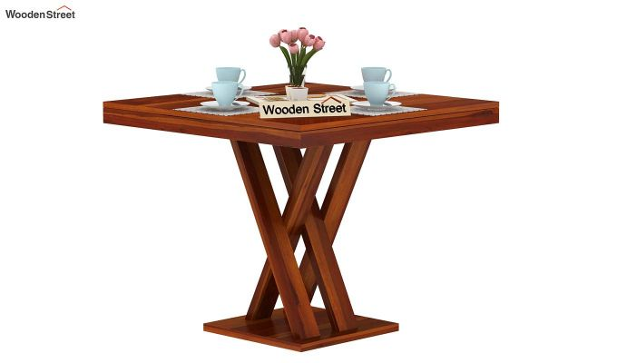 Roby Dining Table (Honey Finish)-2