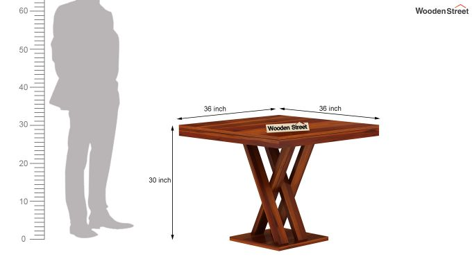 Roby Dining Table (Honey Finish)-7