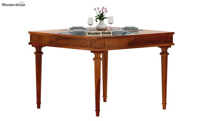 Rover 4 Seater Dining Table (Honey Finish)-2