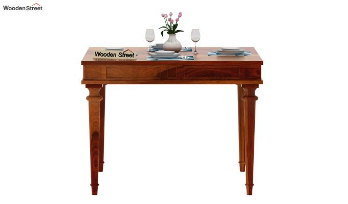 Rover 4 Seater Dining Table (Honey Finish)-3