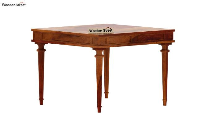 Rover 4 Seater Dining Table (Honey Finish)-4
