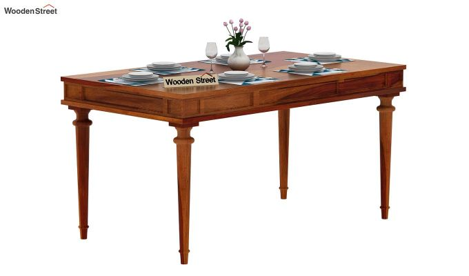 Rover 6 Seater Dining Table (Honey Finish)-2