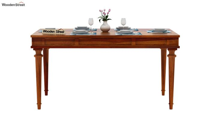 Rover 6 Seater Dining Table (Honey Finish)-3