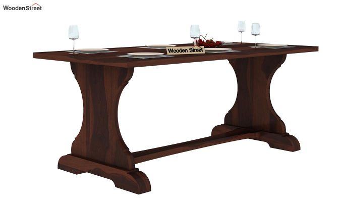 Ryder 6 Seater Dining Table (Walnut Finish)-2