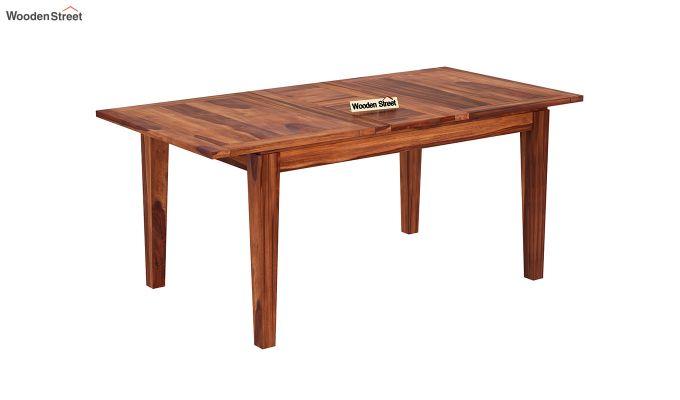 Tim Extendable Dining Table (Honey Finish)-2