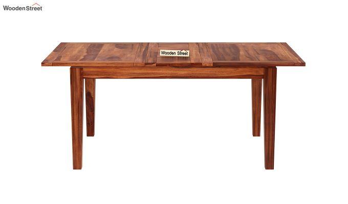Tim Extendable Dining Table (Honey Finish)-3