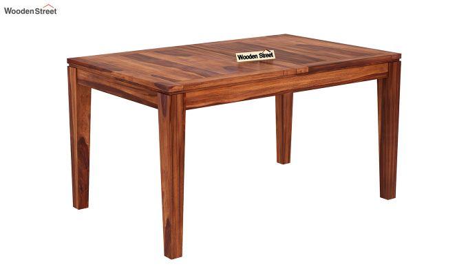 Tim Extendable Dining Table (Honey Finish)-4