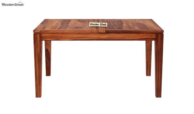 Tim Extendable Dining Table (Honey Finish)-5