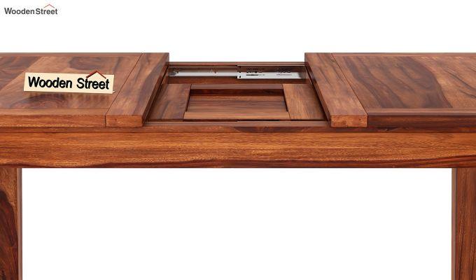 Tim Extendable Dining Table (Honey Finish)-6