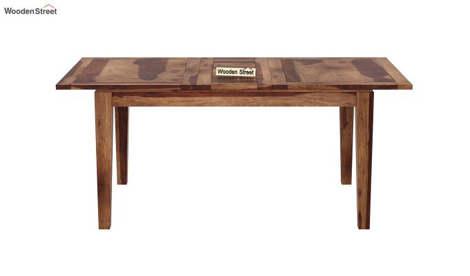 Tim Extendable Dining Table (Teak Finish)-3