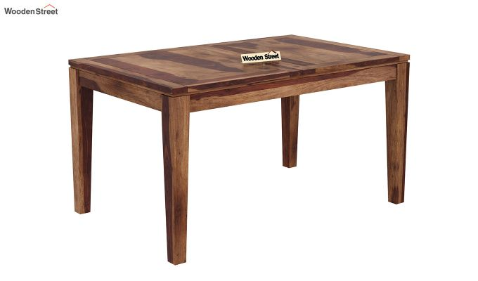 Tim Extendable Dining Table (Teak Finish)-4