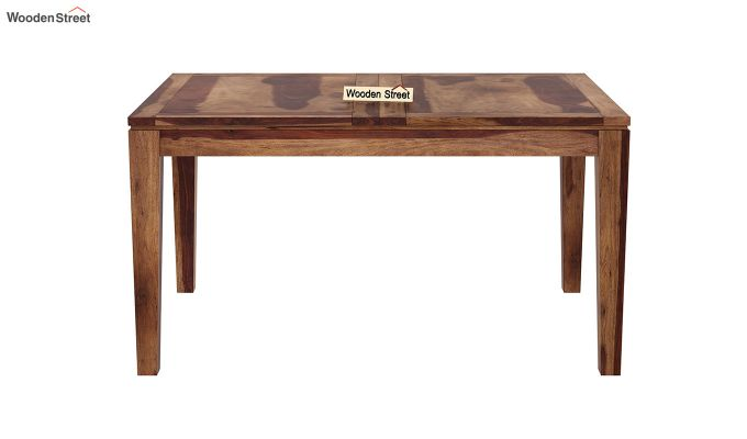 Tim Extendable Dining Table (Teak Finish)-5