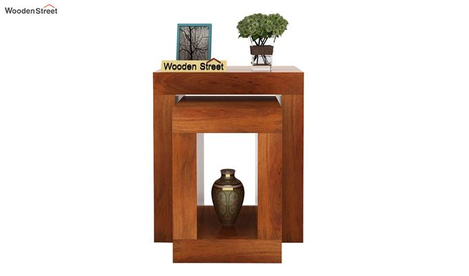 Bolin Display Cabinet (Honey Finish)-2