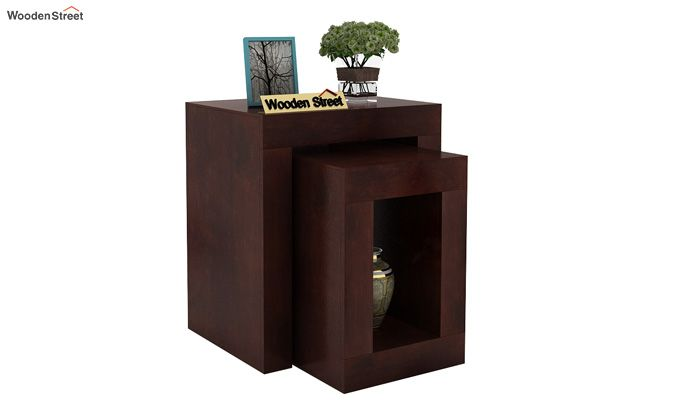Bolin Display Cabinet (Walnut Finish)-1