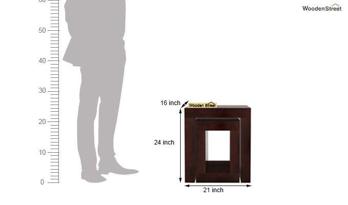 Bolin Display Cabinet (Walnut Finish)-5