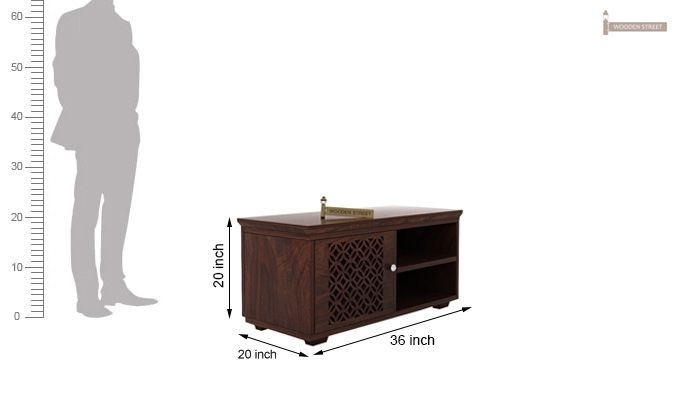 Cambrey Display Unit (Walnut Finish)-5