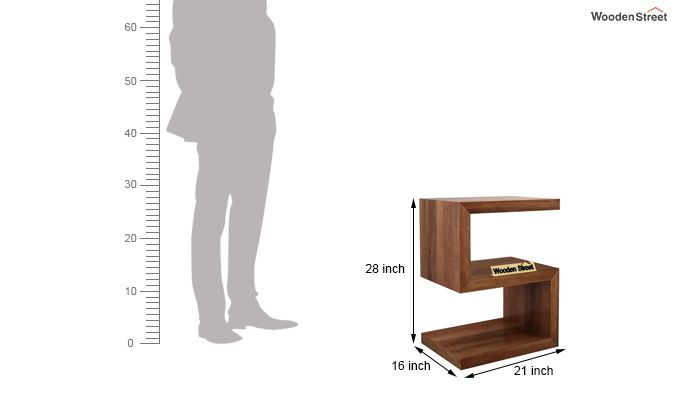 Frank Display Cabinet (Teak Finish)-5