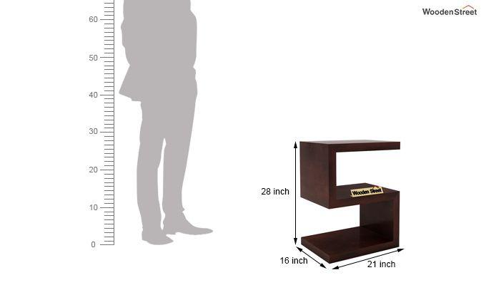 Frank Display Cabinet (Walnut Finish)-6