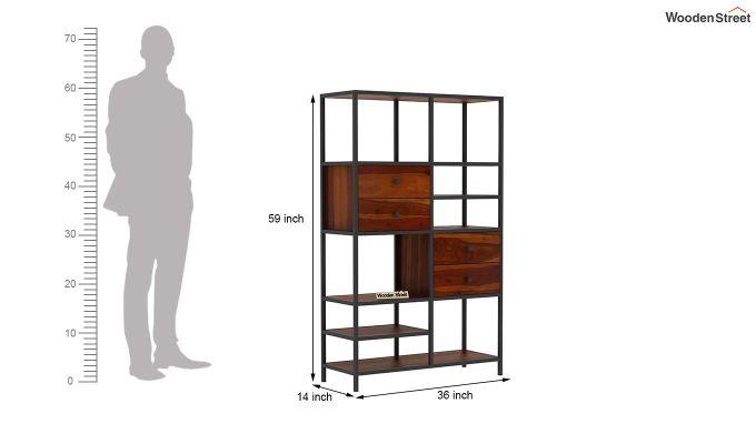 Gemini Display Unit (Honey Finish)-6