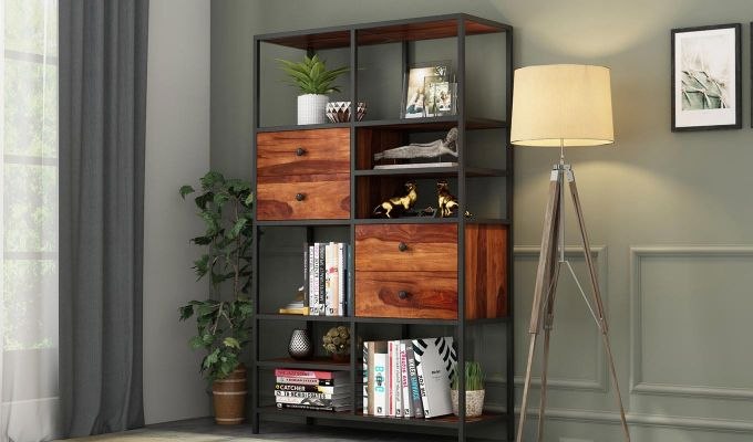 Gemini Display Unit (Teak Finish)-1