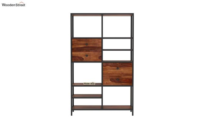 Gemini Display Unit (Teak Finish)-4