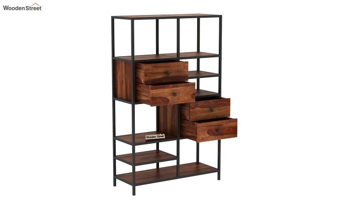Gemini Display Unit (Teak Finish)-5