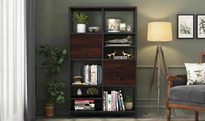 Gemini Display Unit (Walnut Finish)-2