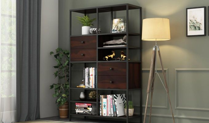 Gemini Display Unit (Walnut Finish)-1